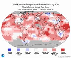 MOAA / August Blended Land and Sea Surface Temperature Percentiles
