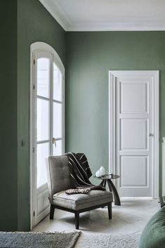 Green Smoke F&B A weathered shade of smoky green channels the traditional aesthetic of the English countryside, with an elevated tint.