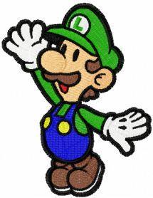 Super Luigi machine embroidery design. Machine embroidery design…