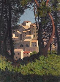 Vue de Cagnes by Félix Vallotton Pierre Bonnard, Landscape Art, Landscape Paintings, Landscapes, Toulouse, Matisse, Maurice Denis, Critique D'art, Japanese Woodcut