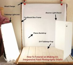 Building Your Own Inexpensive Studio For Your Food Photography - Whole Lifestyle Nutrition Organic Recipes Holistic Recipes Photography Studio Setup, Photography Lessons, Food Photography Styling, Photography Equipment, Photography Backdrops, Photography Tutorials, Photography Business, Photo Backdrops, Photography Gifts