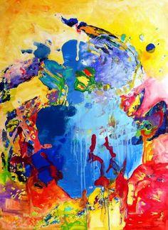 "Saatchi Art Artist Igor Eugen Prokop; Painting, ""20. BERLIN.  BLUE  HEART"" #art"