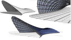 BIM - Revit 3D Organic Form 03 Tensile Structure - YouTube