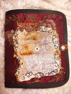 Stamped Collaged Needlebook ~By suziqu