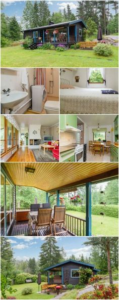 "This 570sf ""Tiny"" House Takes its Cues from the 50's and Adds Modern Flair - If you loved the styles in the 1950's, you're going to love this tiny house that we found in Sweden! This 570-square foot house was updated in 2012 to add modern elements making it more energy-efficient, but it still has all the charm from an era past."