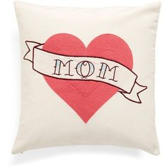 Nordstrom at Home 'Mom Tattoo' Embroidered Pillow ($39) ❤ liked on Polyvore featuring home, home decor, throw pillows, ivory dove multi, beige throw pillows, embroidered throw pillows, dove figurines, ivory figurines and white dove figurines