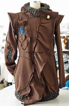 Custom order / Reserved for 'les1214' - /SALE/ Brown sweatshirt fleece hooded jacket - KJ014