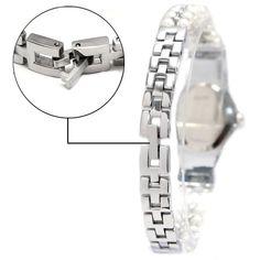 FW913B lesklé strieborné pásmo White Dial dámy Ženy napodobnil Pearl náramok hodinky