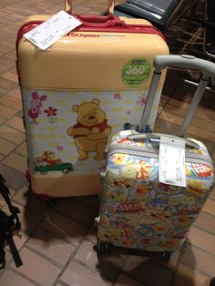 Cutest luggages! Winnie the Pooh.