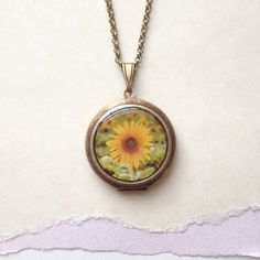 Sunflower Locket  Su