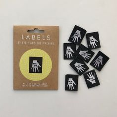 New Arrivals Kylie, Sewing Labels, How To Make Labels, Minerva Crafts, Thing 1, Clothing Labels, Custom Labels, Sewing Clothes, Craft Gifts