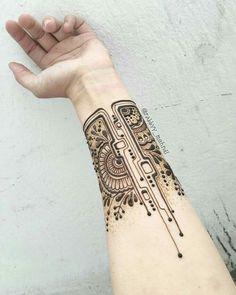 Technology Style Henna Designs on Hand