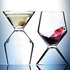 2 in 1 Combo Martini and Wine Glass, $17.95 #whatonearth