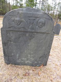Nutfield Genealogy: Tombstone Tuesday ~ Robert and Sarah Peebles, double tombstone, d. 1760 and 1772, Bedford, New Hampshire #genealogy