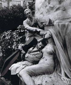 France. Maurice Baquet, Dreaming, Paris, 1950. // Photo by Robert Doisneau