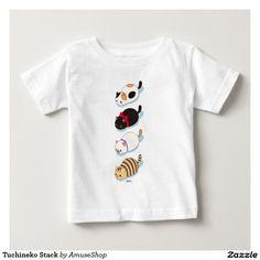Tuchineko Stack T-shirt cat. Baby, bebé. Producto disponible en tienda Zazzle. Vestuario, moda. Product available in Zazzle store. Fashion wardrobe. Regalos, Gifts. #camiseta #tshirt
