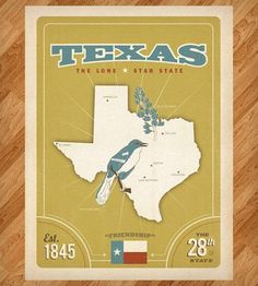 State Pride: Texas Print by Anderson Design Group on Scoutmob Shoppe