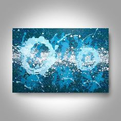 Acrylic Abstract Painting  36 x 24 Blue  Painting  Canvas