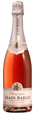 Champagne Alain Bailly Brut Rose is composed of 80 percent Pinot Meunier and 20 percent Pinor Noir