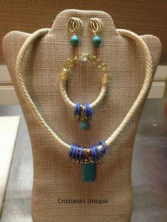 Jessica Julia – Cristiana's Unique   stone necklace genuine turquoise