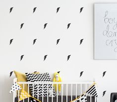 Lightning Bolt Wall Decals - What a great way to add some action to your little super heroes walls! Childrens Wall Decals, Kids Wall Decals, Boys Room Decor, Kids Room, Sticker Citation, Plexiglass, Toy Rooms, Lightning Bolt, Custom Wall