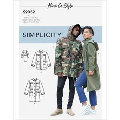 Misses, Mens and Teens Jacket and Hood Simplicity Sewing Pattern 9052. Size XS-XL. Teen Jackets, Dressmaking Fabric, Simplicity Sewing Patterns, Sewing Blogs, Sewing Tips, Couture, Hooded Jacket, How To Memorize Things, Men