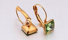 IBLUE Jewelry Woman 18k Gold Plated Stainless Steel Crystal French Hook Earrings *** Read more  at the image link.