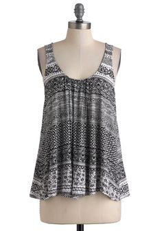 Lacing Around Every Pattern Top, #ModCloth