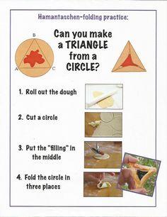 can you make a triangle from a circle hamentashen play dough practice