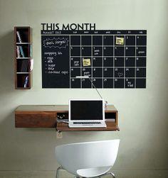Wall Decal Warehouse - Blackboard Monthly Calendar, $28.99 (http://www.walldecalwarehouse.com.au/blackboard-monthly-calendar/)