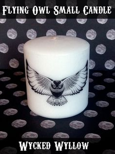 Flying Owl Small Pillar Candle Gift Nature