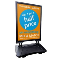 Sightmaster Pro A1 Forecourt Signs 404 Page, Buy 1 Get 1, Pavement, Mix Match, Signs, Outdoor, Outdoors, Shop Signs, Outdoor Games