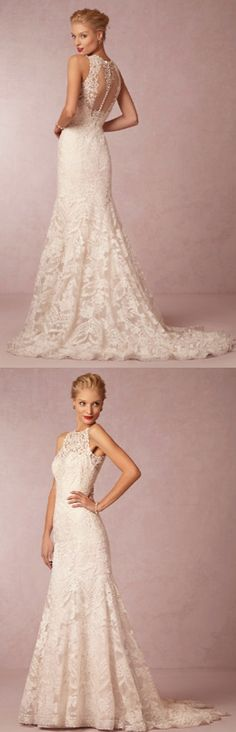 Beautifully embellished lace gown