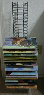 Rusty Jones drying rack. CD holder from Best Buy