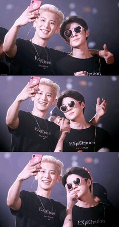 Chanyeol looks like a lucky fanboi getting his picture with the diva that Sehun is lmao