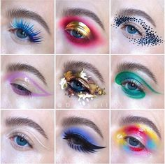 None of the pictures are mine Cute Makeup Looks, Different Makeup Looks, Makeup Eye Looks, Crazy Makeup, Love Makeup, Makeup Inspo, Makeup Art, Makeup Inspiration, Makeup Ideas