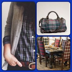 FINAL PRICE DROPPlaid Crossbody Bag Preloved and flawless. Great large size bag. Adjustable Crossbody strap, or can be worn as a shoulder bag. Plaid exterior, floral interior with pocket. Strap is brown leather Bags Shoulder Bags