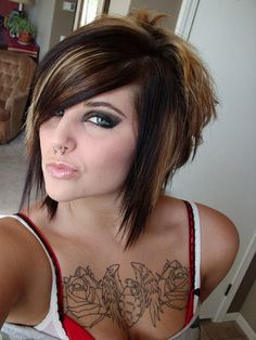 Short Emo Hairstyles | ... hairstyle is probably the coolest brief emo hair styles for women