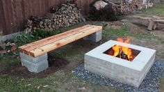 How to make an outdoor concrete and wood bench.