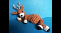 cervo all' uncinetto - amigurumi - deer crochet