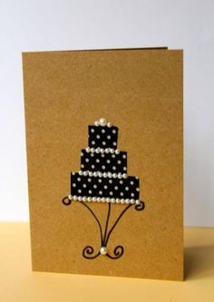 Making simple cards with Washi Tape (Wedding Card by Niki Meiners) Simple Wedding Cards, Wedding Cards Handmade, Handmade Birthday Cards, Greeting Cards Handmade, Easy Diy Birthday Cards, Paper Cards, Diy Cards, Washi Tape Cards, Smash Book