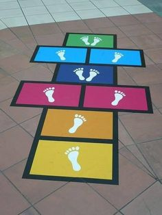 This shows physical fitness activities for middle childhood.Hopscotch Use sidewalk Fun Ideas for Backyard Games WeekEnjoy this fun way for kids (of all ages) to learn about the order of the Passover seder! Fun Indoor Activities, Motor Skills Activities, Gross Motor Skills, Toddler Activities, Indoor Games, Backyard For Kids, Backyard Games, Backyard Playground, Middle Childhood