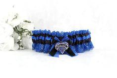 Police Wedding Garter   Bridal Garter  Blue by CreativeGarters