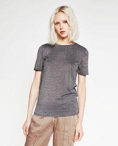 Image 1 of SHINY T-SHIRT from Zara
