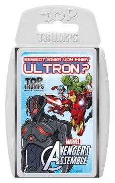TOP TRUMPS AVENGERS ASSEMBLE #TopTrumps #AvengersAssemble #Avengers #IronMan #CaptainAmerica #Thor #Hulk #Ultron