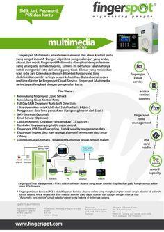 Mesin absensi sidik jari kartu pasword dan PIN fingerspot seri Multimedia