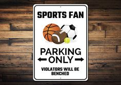sports fan parking sign gift for sports fan sports lover christmas gift guide holiday gifts