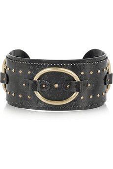 Philip Crangi 14-karat gold and blackened steel cuff | THE OUTNET #PerfectGifts #InsideTheBox