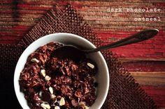 Dark Chocolate Oatmeal #recipe #breakfast #yumo