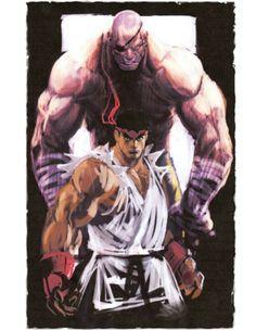 Ryu. Sagat